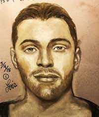 A police sketch led authorities to Randy Baker.(La Porte Police Department)