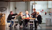 <p>The national tour of <i>The Humans</i> features (from left, clockwise) Richard Thomas, Pamela Reed, Lauren Klein, Daisy Eagan, Luis Vega and Therese Plaehn. AT&amp;T Performing Arts Center presents the show at Winspear Opera House through May 20.</p>(Lawrence Jenkins/Special Contributor)