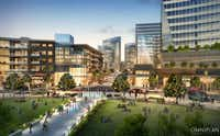 The Monarch City development is planned with a large central park.(Howard Hughes Corp)