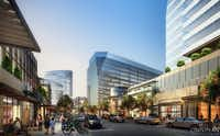 The mixed-use Monarch City development will have a main street with retail and restaurants.(Howard Hughes Corp.)