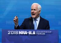 Sen. John Cornyn (R-TX) speaks at the NRA-ILA Leadership Forum during the NRA Annual Meeting & Exhibits at the Kay Bailey Hutchison Convention Center in Dallas.(Justin Sullivan/Getty Images)