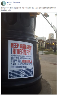 <p>Lewisville resident Adonis Carcamo posted photos on Facebook of neo-Nazi fliers that have been seen around Lewisville.</p>(Facebook)