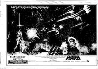 A full-page ad for <i>Star Wars</i>ran in <i>The Dallas Morning News</i> on May 22, 1977.