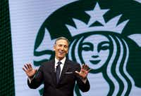 Starbucks CEO Howard Schultz announced Monday that he's stepping away from the Seattle-based chain later this month. <br>(Elaine Thompson/The Associated Press<br>)