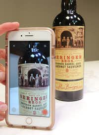 Beringer Bros. bottles draw you in to take their photograph.(Louis DeLuca/Staff Photographer)