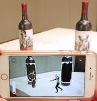 The Walking Dead wines even interact with each other.(Louis DeLuca/Staff Photographer)