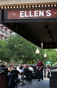 The patio area of Ellen's was bustling Friday afternoon.(Rose Baca/Staff Photographer)