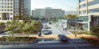A central boulevard will provide access to all the buildings at Energy Square.(Gensler)