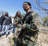 Yafeuh Balogun attended a counterprotest against the anti-Muslim demonstration on Martin Luther King Boulevard in Dallas on, April 2, 2016.(Jae S. Lee/File Photo)