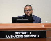 """<p><span style=""""font-size: 1em; background-color: transparent;"""">""""Whenever I speak on race relations, it's not using a race card. My skin -- who I am is not something I can shuffle up and put in the back of the deck when I see fit,"""" McKinney City Council member La'Shadion Shemwell sait at Tuesday night's council meeting. (Jason Janik/Special Contributor)</span></p>"""
