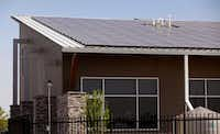 Arborilogical Services features a roof that is covered in solar panels. (Stewart F. House/Special Contributor)