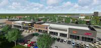 The first phase retail and restaurant buildings front Stacy Road and U.S. 75 in Allen.(GFF)
