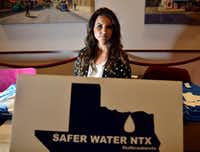 Jamie Stephens, co-founder of the Safer Water North Texas Facebook group, accuses the North Texas Municipal Water District of hijacking their website by changing one letter in the URL. People trying to get to the Safer Water website might get confused.(Ben Torres/Special Contributor)
