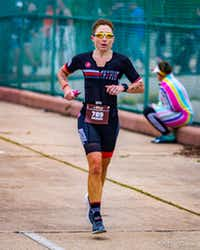 Brandi Grissom Swicegood, an Austin writer, chases her dream of becoming a professional triathlete while competing in the 2018  Ironman Texas 70.3 in Galveston. She is capturing life s moments as she balances family and relationships while training.(Travis Swicegood)
