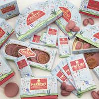 Ruby chocolate products from Prestat(Central Market)
