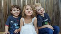 From left: Drake Painter, 4; Caydence Painter, 6; and Odin Painter, 8.(Facebook)