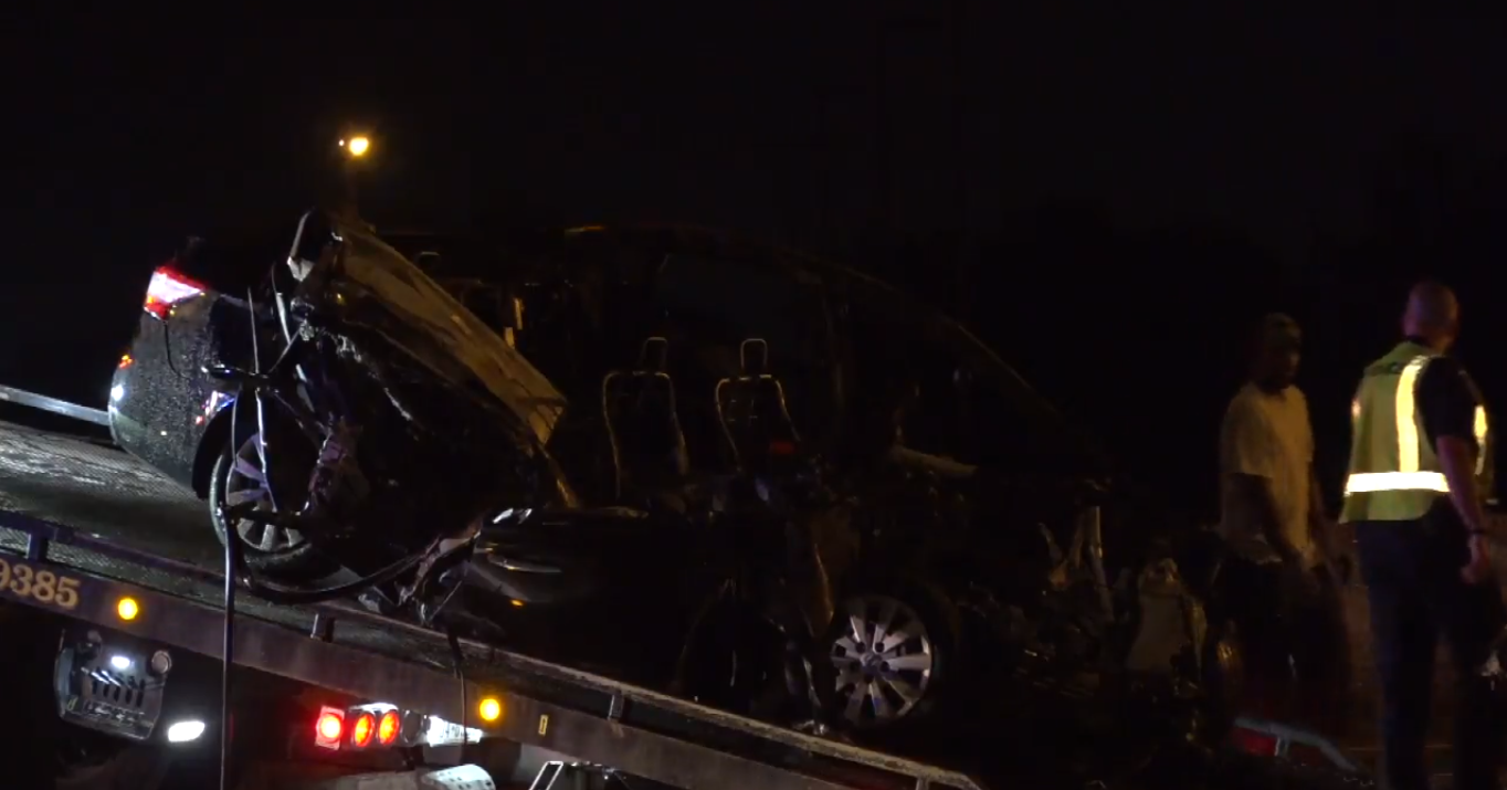 car crushed under 18-wheeler in deadly crash on i-30 in mesquite