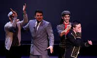 Noah Aguilar, of Frenship High School, learns he won the award for Best Leading Actor during the 7th annual Dallas Summer Musicals High School Musical Theatre Awards. (Andy Jacobsohn/Staff Photographer)