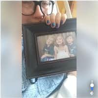 A screenshot of a Facebook Live video by a Ponder woman who was the sole survivor of a shooting in which her three children were killed by her ex-husband on May 16, 2018.
