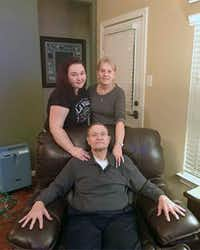 Cynthia Tisdale (top right) died after being called to the school Friday to substitute teach. With her in a family photo are her husband, Recicie Tisdale, and niece Leia Olinde.(Eric Sanders)