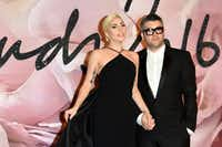 LONDON, ENGLAND - DECEMBER 05:  Singer Lady Gaga and desginer Brandon Maxwell attend The Fashion Awards 2016 on December 5, 2016 in London, United Kingdom.  (Photo by Stuart C. Wilson/Getty Images) ORG XMIT: 685738457(Stuart C. Wilson/Getty Images)