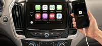 The Traverse features Apple CarPlay and Android Auto.(Chevrolet)
