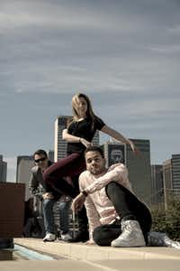 "<p>From left, Carter Alexander, Hailey Von Schlehenried and Albert Drake are the choreographers behind ""AKA:ballet,"" a project to create six or seven new works to premiere at the Latino Cultural Center in July.</p>(Ryan Williams)"