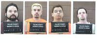 The Teller County Sheriff's office released the booking mug shots of the four Texas prison escapees who were apprehended in Woodland Park, Colo., in 2001. From left: Michael Anthony Rodriguez, George Angel Rivas, Joseph Christopher Garcia and Randy Ethan Halprin.(The Associated Press)