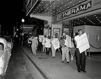 In 1955, Craft led protests in front of the Melba Theater, as well as the Majestic, in downtown Dallas.(R.C. Hickman/From the R.C. Hickman Photographic Archives at the Center for American History at the University of Texas at Austin)