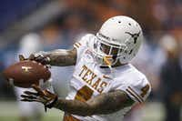 Texas' Kenny Vaccaro (4) before the team's Alamo Bowl NCAA football game against Oregon State in 2012 in San Antonio.(Eric Gay/The Associated Press)