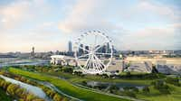 Developers want to build a giant observation wheel on the Trinity River south of downtown Dallas that would be bigger than the London Eye.(Eye of Texas LLC)