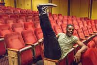 Ahmad Simmons, an alumnus of the Fort Worth Academy of Fine Arts, in the seats of Rodgers & Hammerstein's <i>Carousel</i>, one of the 2018 Tony nominees for best revival of a musical, at the Imperial Theatre on Broadway.(David Granberry)