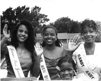 Miss Juneteenth in 1993: Kamisha Harris, 15. First Runner Up: Rachel Hawley, 15. Second Runner Up: Pasha Perry, 15.(File Photo/Staff)