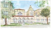 A rendering of John S. Bradfield Elementary's new design.(Highland Park ISD)