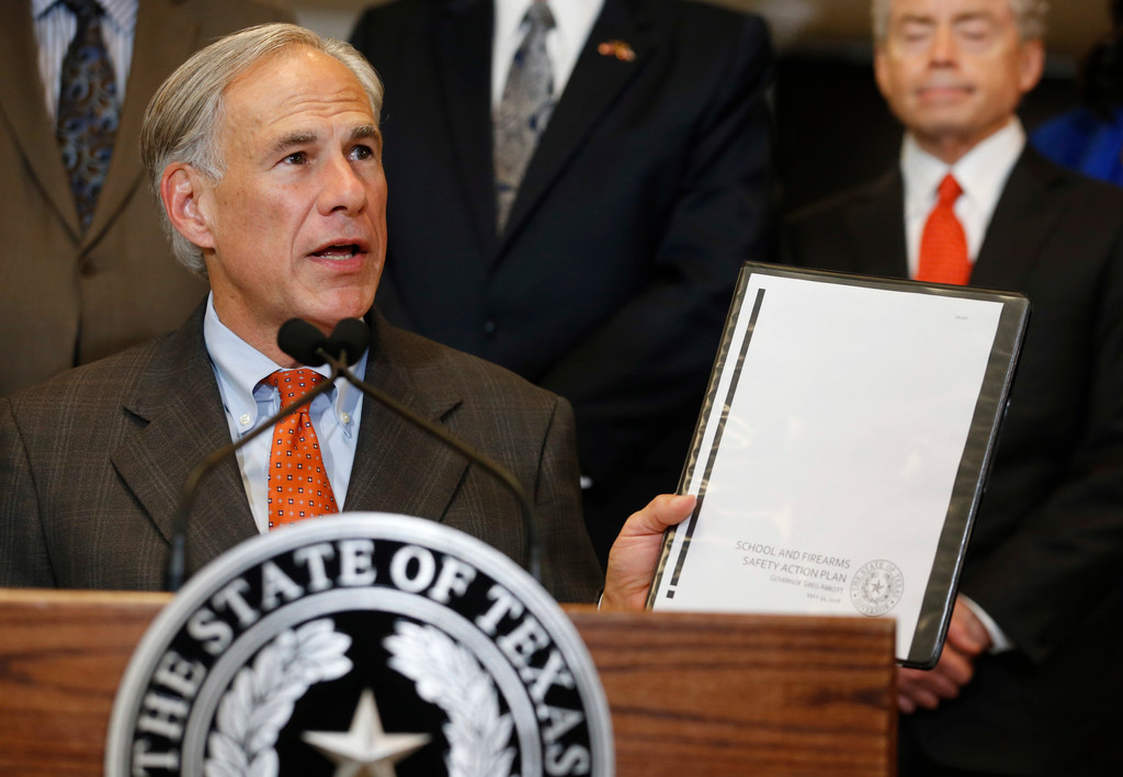 Greg Abbott Unveils School Safety Proposals After Santa Fe Massacre