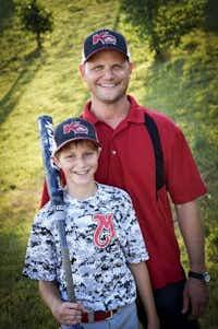 Caleb Schwab with his father, Scott Schwab(File Photo)
