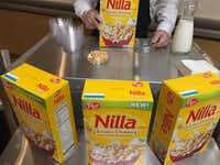 Walmart said people are eating cereal as a late-night dessert and it's feeding the trend by convincing Post to make a vanilla wafer banana pudding cereal. (Maria Halkias/Dallas Morning News)