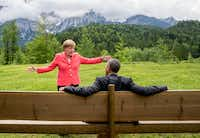 German Chancellor Angela Merkel speaks with then-President Barack Obama at Schloss Elmau hotel near Garmisch-Partenkirchen in Germany during the G-7 summit in 2015.(File Photo/The Associated Press)
