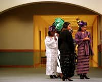 Students and teachers modeled dresses inspired by African designs at a Juneteenth Fashion Show.(Tom Fox/File Photo)