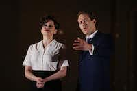 "Lyric Stage, which prides itself on including Dallas-Fort Worth actors in its productions, features Janelle Lutz (left) and Christopher J. Deaton in ""Guys and Dolls"" June 8-10. This classic Frank Loesser musical about gamblers, which won the Tony Award for best musical in 1951, winds up a season that's been a gamble for the company as it finds its footing in its new home at the Majestic Theatre in Dallas.(Andy Jacobsohn/Staff Photographer)"