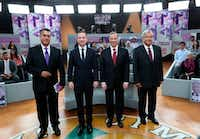"<p><span style=""font-size: 1em; background-color: transparent;"">Mexico presidential candidates, from left, independent Jaime Rodriguez, Ricardo Anaya of the Forward for Mexico Coalition, Jose Antonio Meade, of the Institutional Revolutionary Party, and Andres Manuel Lopez Obrador, with the MORENA party, at the second of three debates held in Tijuana, Mexico, last month.</span></p>(The Associated Press)"