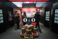 <p>Alibaba, China's largest e-commerce platform, created a fully automated wine store at Hong Kong's Vinexpo fair on May 29, with no shop workers or cash tills and payments made using facial recognition.</p>(Anthony Wallace/Agence France-Presse)