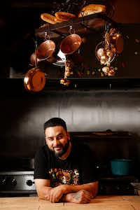 Owner Gino Rojas of Revolver Taco Lounge in Dallas (Rose Baca/Staff Photographer)
