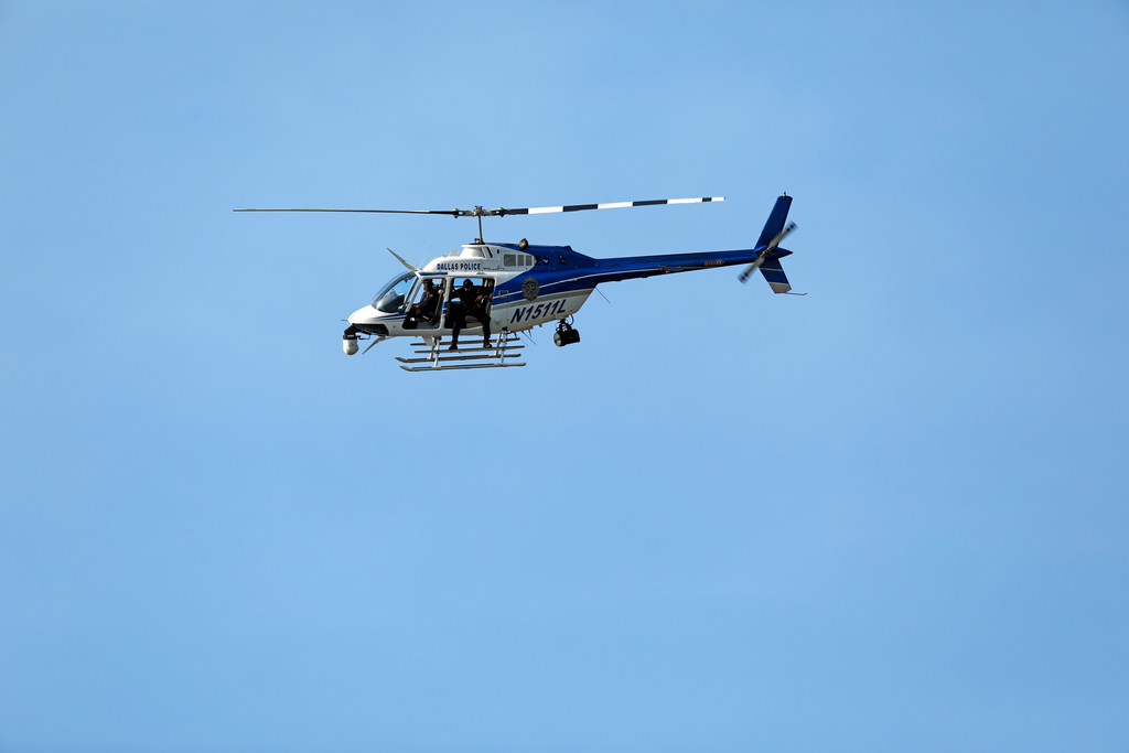 Dallas police helicopter swoops in to rescue kayaker