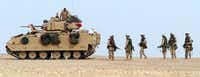 <p>The Army Futures Command will take charge of developing new weapons systems, including a next-generation combat vehicle to replace the aging Bradley Fighting Vehicle, introduced in the late 1970s. (The Associated Press)</p>