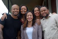 From left, Kevin Overton of Philadelphia, Cherjon Overton of Deptford, N.J., Sally Armstrong of Carrollton, Sterling Overton-Crawford of Fredericksburg, Va., and Dorein Overton of Westville, N.J., pose for a photograph  in Philadelphia.(William Thomas Cain/Cain Images)
