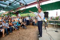 Rep. Beto O'Rourke, a Democrat looking to unseat incumbent Republican Sen. Ted Cruz, spoke at a rally May 24 at Mudhen Meat and Greens in Dallas.(Jeffrey McWhorter/Special Contributor)