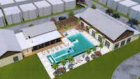 SoHo Square includes a $3 million pool and community center.(Megatel Homes)