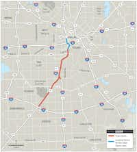 The $666 million Southern Gateway project broke ground in February. The first closing of main lanes is scheduled from 9 p.m. Saturday to 6 a.m. Monday at Eighth Street, where traffic will be rerouted to the frontage roads so that crews can take out the overpass.(Texas Department of Transportation)