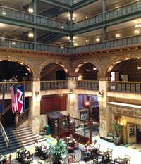 The landmark Brown Palace is known for its ornate atrium with stained-glass ceiling.(Steve Brown)